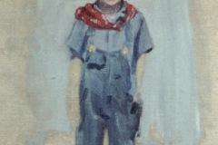 Lloyd Kramer in overalls
