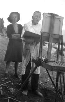 Allan painting plein air